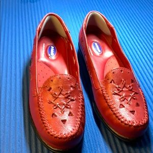 Dr Scholls Red flat shoes Size 8 M